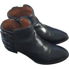 Santiags, bottines, low boots cowboy PASTELLE Noir