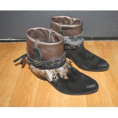 Santiags, bottines, low boots cowboy SWILDENS Noir