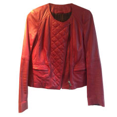 Leather Jacket COMPTOIR DES COTONNIERS Pink, fuchsia, light pink
