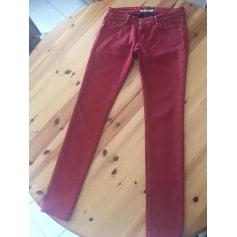 Jeans slim MAISON SCOTCH Rouge, bordeaux
