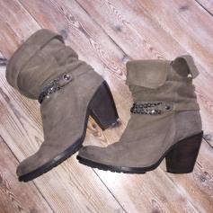 Bottines & low boots à talons COP-COPINE Beige, camel