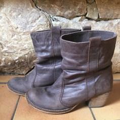 Santiags, bottines, low boots cowboy TOPSHOP Beige, camel