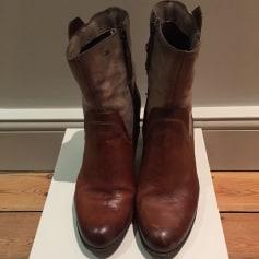 Bottines & low boots à talons MJUS Doré, bronze, cuivre