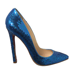 Pumps, Heels CHRISTIAN LOUBOUTIN Pigalle Blue, navy, turquoise