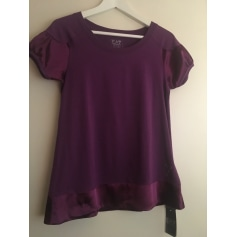 Top, tee-shirt ARMANI EA7 Violet, mauve, lavande