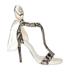 Sandales à talons ALEXIS MABILLE Blanc, blanc cassé, écru