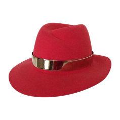 Hat MAISON MICHEL Red, burgundy
