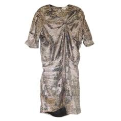 Robe courte ISABEL MARANT FOR H&M Doré, bronze, cuivre
