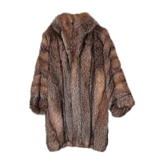 Cappotto in pelliccia YVES SAINT LAURENT cristal  : ni roux ni bleu, ni argenté