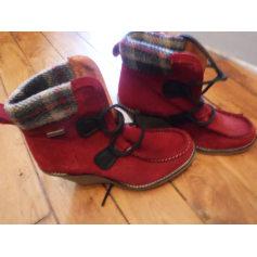 Bottines & low boots à compensés BEE FLY Rouge, bordeaux