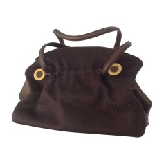 Sac à main en cuir BULGARI Marron