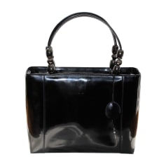 Sac à main en cuir DIOR Lady Dior Noir