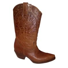 Santiags, bottines, low boots cowboy BUFFALO Marron