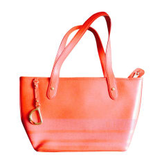 61148083e0a9 Leather Handbag RALPH LAUREN Orange