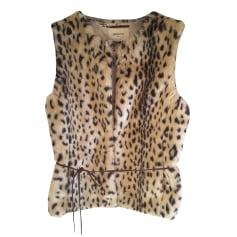 Gilet sans manches BELLEROSE Beige et noir façon leopard