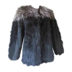 Manteau en fourrure LANVIN Noir