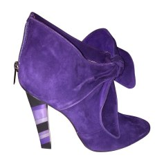 High Heel Ankle Boots JIMMY CHOO Purple, mauve, lavender