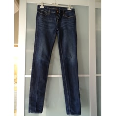 Jeans droit UNIQLO Bleu, bleu marine, bleu turquoise