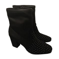 High Heel Ankle Boots SANDRO Black