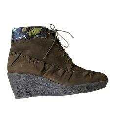 Bottines & low boots à compensés MALOLES Marron