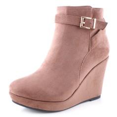 Bottines & low boots à compensés LILY SHOES Beige, camel