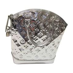 Lederhandtasche LOUIS VUITTON Lockit Silberfarben, stahlfarben