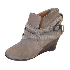 Wedge Ankle Boots COMPTOIR DES COTONNIERS Beige, camel