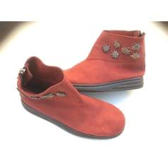 Bottines & low boots plates ARCHE Rouge, bordeaux