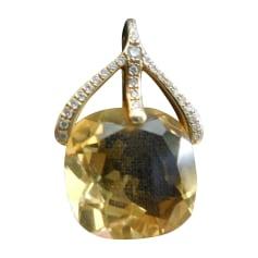 Pendentif, collier pendentif POIRAY Jaune
