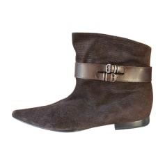 Bottines & low boots plates ANTEPRIMA Marron