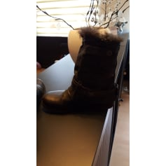 Santiags, bottines, low boots cowboy AIRSTEP Noir