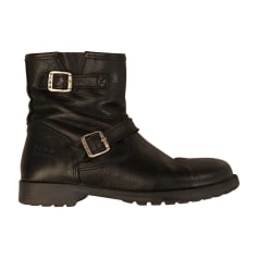 Bottines & low boots motards PALLADIUM Noir