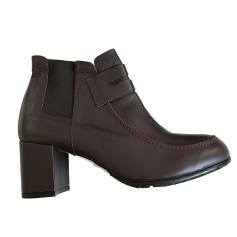 Bottines & low boots à talons MALOLES Rouge, bordeaux