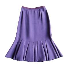 Jupe mi-longue PRADA Violet, mauve, lavande