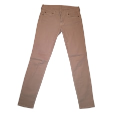 Jeans slim 7 FOR ALL MANKIND Beige, camel