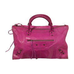 Leather Handbag BALENCIAGA Work Pink, fuchsia, light pink