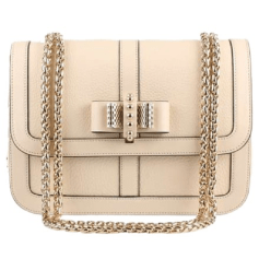 Leather Shoulder Bag CHRISTIAN LOUBOUTIN Beige Clair