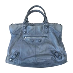 Leather Oversize Bag BALENCIAGA Gray, charcoal
