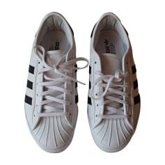 Baskets ADIDAS Blanc  Marine
