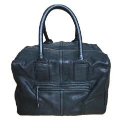 Leather Handbag COMPTOIR DES COTONNIERS Black