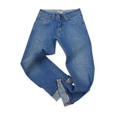 Jeans dritto BURBERRY Blu, blu navy, turchese