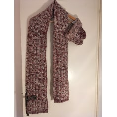 Scarf SUD EXPRESS Red, burgundy