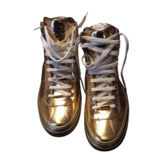 Sneakers JIMMY CHOO Gold, Bronze, Kupfer