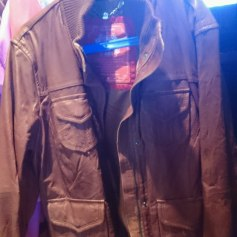 Leather Jacket EDC BY ESPRIT Brown