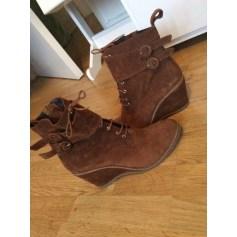 Bottines & low boots à compensés REGARD Beige, camel