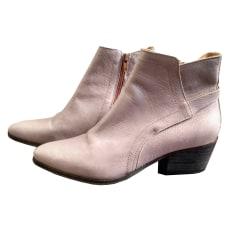 Santiags, bottines, low boots cowboy ATELIER DO SAPATO Argenté, acier