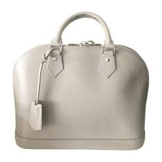 Leather Handbag LOUIS VUITTON Alma Gray, charcoal