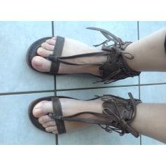 Sandales plates  AIRSTEP Marron
