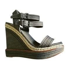 Sandali con tacchi MIU MIU Grigio, antracite