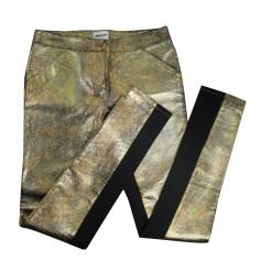 Skinny Pants, Cigarette Pants AMERICAN RETRO Golden, bronze, copper